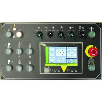 Operator friendly control panel with touchscreen